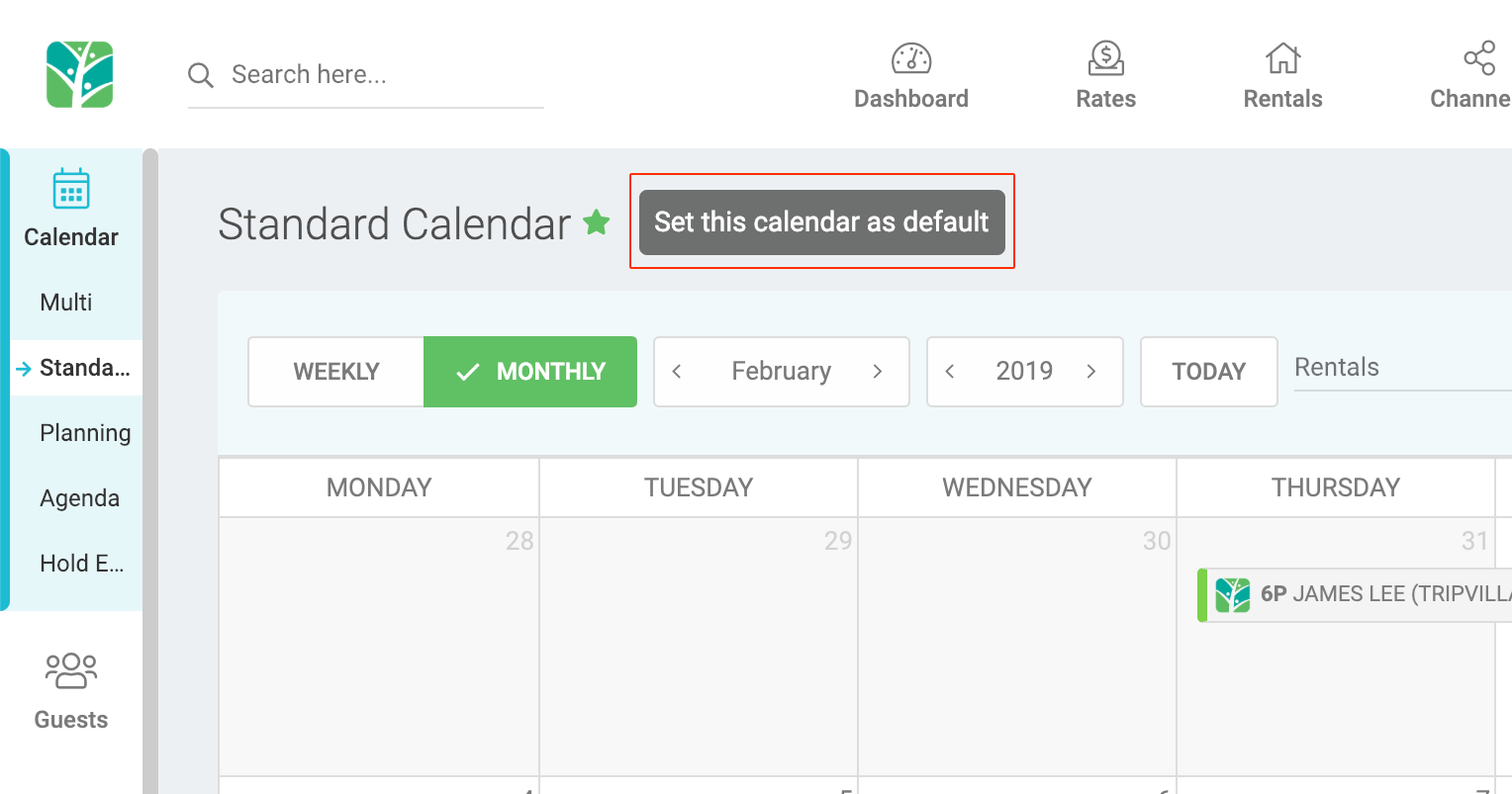 Tokeet v3 - Set preferred calendar option